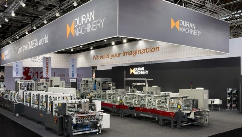 Duran Machinery will exhibit a complete line at their 400 sqm stand in Hall B5 together with Van den Bos Corrugated Machinery