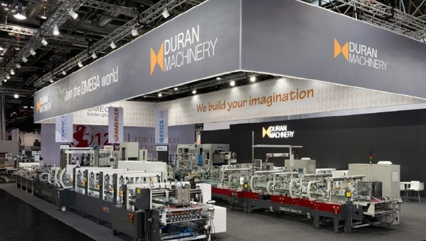Duran Machinery will exhibit a complete line at their 400 sqm stand in Hall B5 together with Van den Bos Corrugated Machinery / Duran Makina CCE International'ın İlgi Odağı Olacak